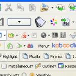 Firefox con 100 extensiones