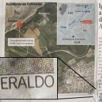 Heraldo de Aragón usa imágenes de Google Maps sin citar su fuente