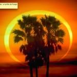 Anillo de fuego de un eclipse anular de Sol