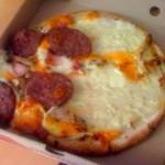 Las pizzas no han de viajar en vertical