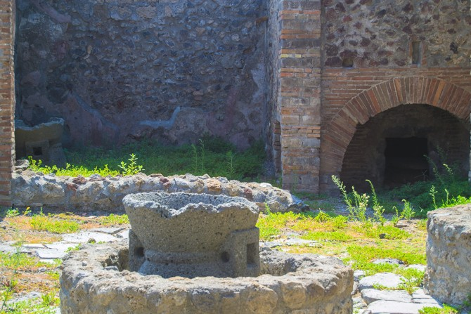 Patio de una casa en Pompeya