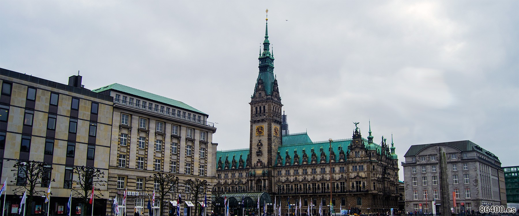 Rathaus o plaza del ayuntamiento Hamburgo
