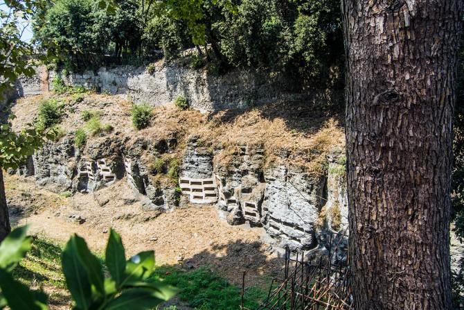 Catacumbas en la ciudad perdida de Pompeya