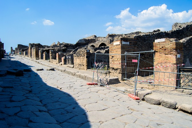 Calle principal de Pompeya