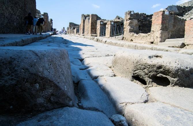 Así son los pasos de cebra de Pompeya