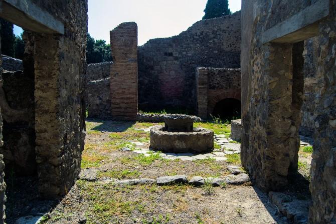 atio de una casa en Pompeya
