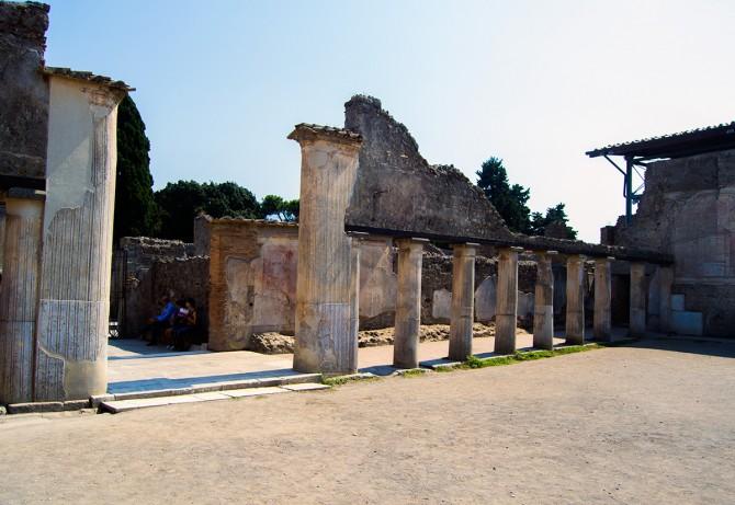 Zona de entrenamiento en los baños públicos de Pompeya