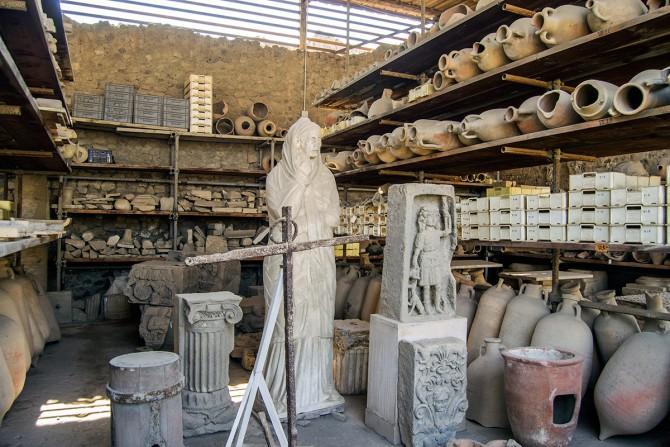 Vasijas y petrificaciones Pompeya