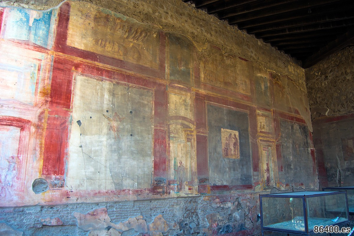 Fresco del mercado de Pompeya