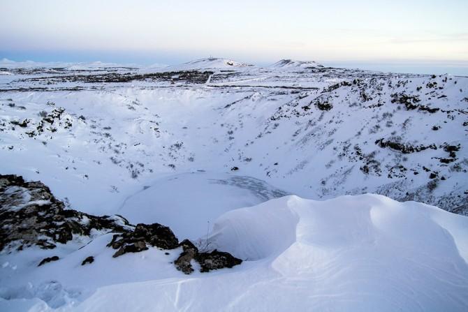 Cráter volcánico Kerið Islandia