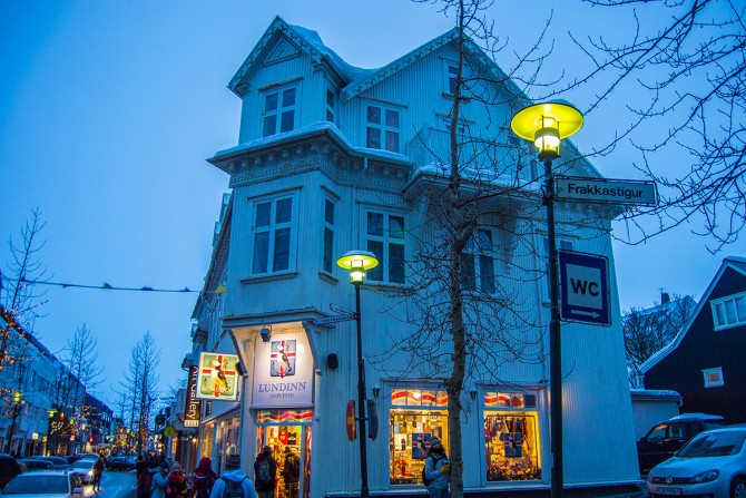 Calle comercial Reikiavik Islandia