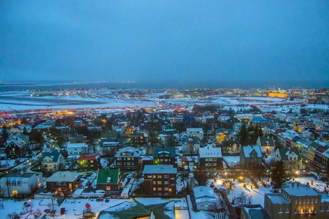 Vistas desde Hallgrímskirkja Reikiavik Islandia