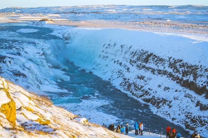 Cascada Gulffoss Islandia