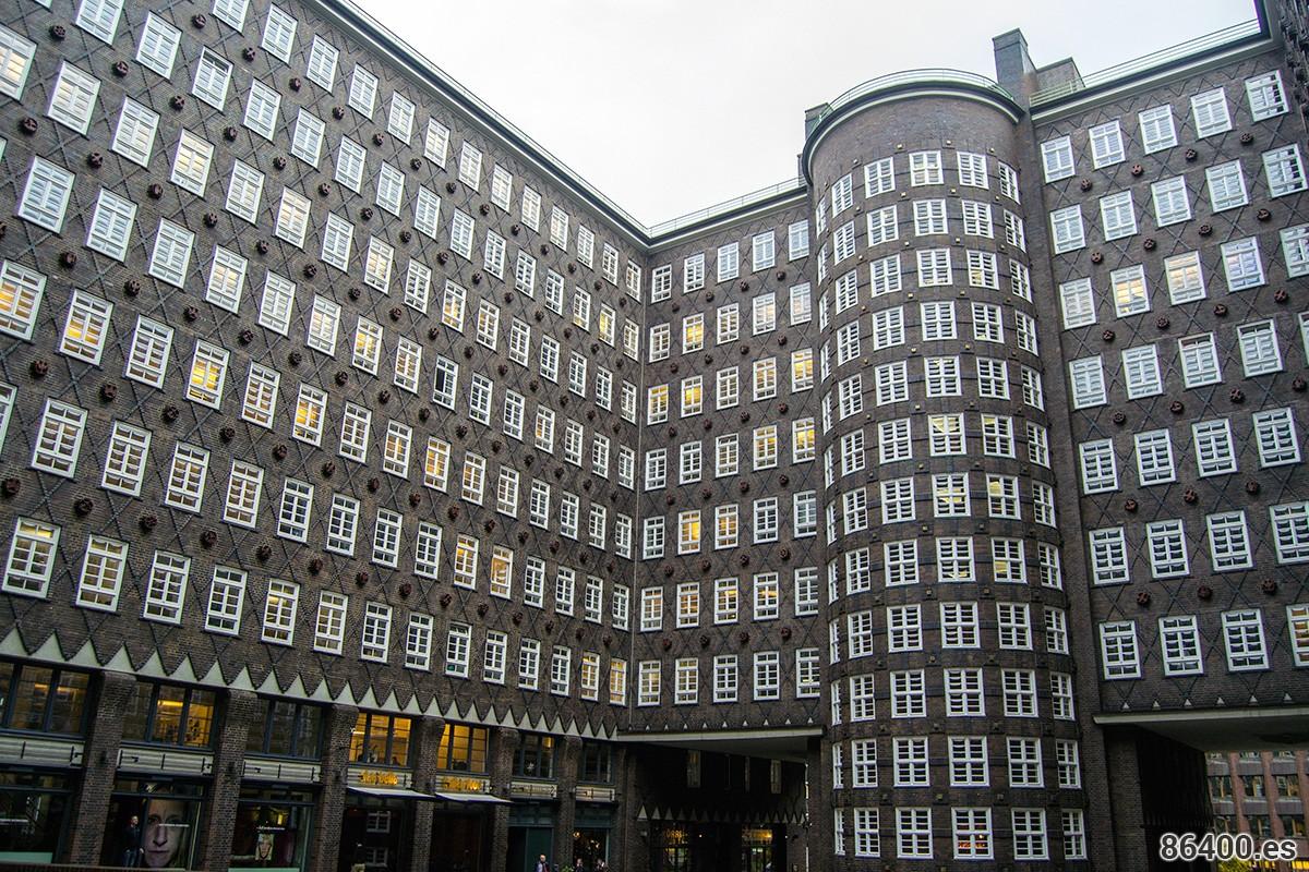 Fachada edificio Kontorhaus Hamburgo