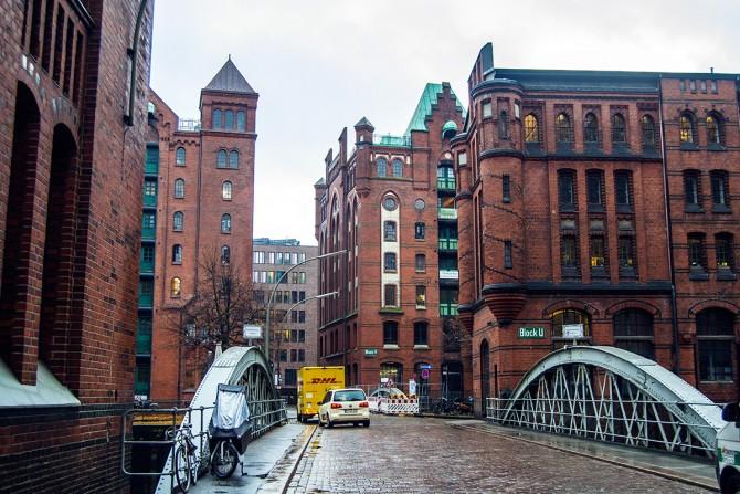 Speicherstadt o ciudad mercancías Hamburgo