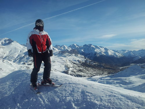 Formigal, descenso con Snowblades
