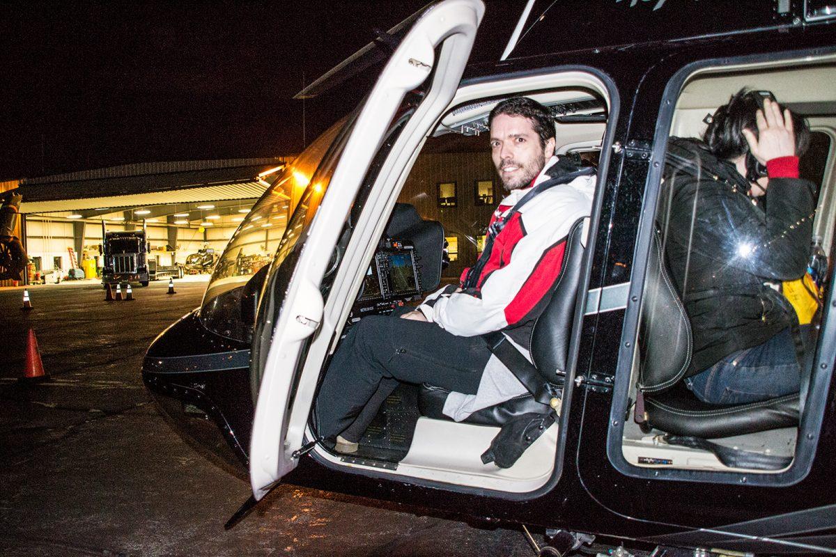 Alex en el helicóptero - Mejores vistas de Manhattan