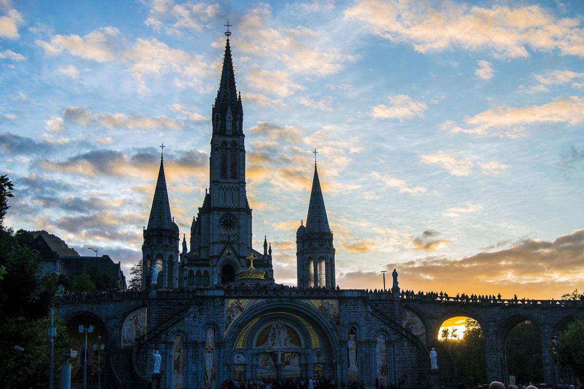 Atardecer en el Santuario de Lourdes