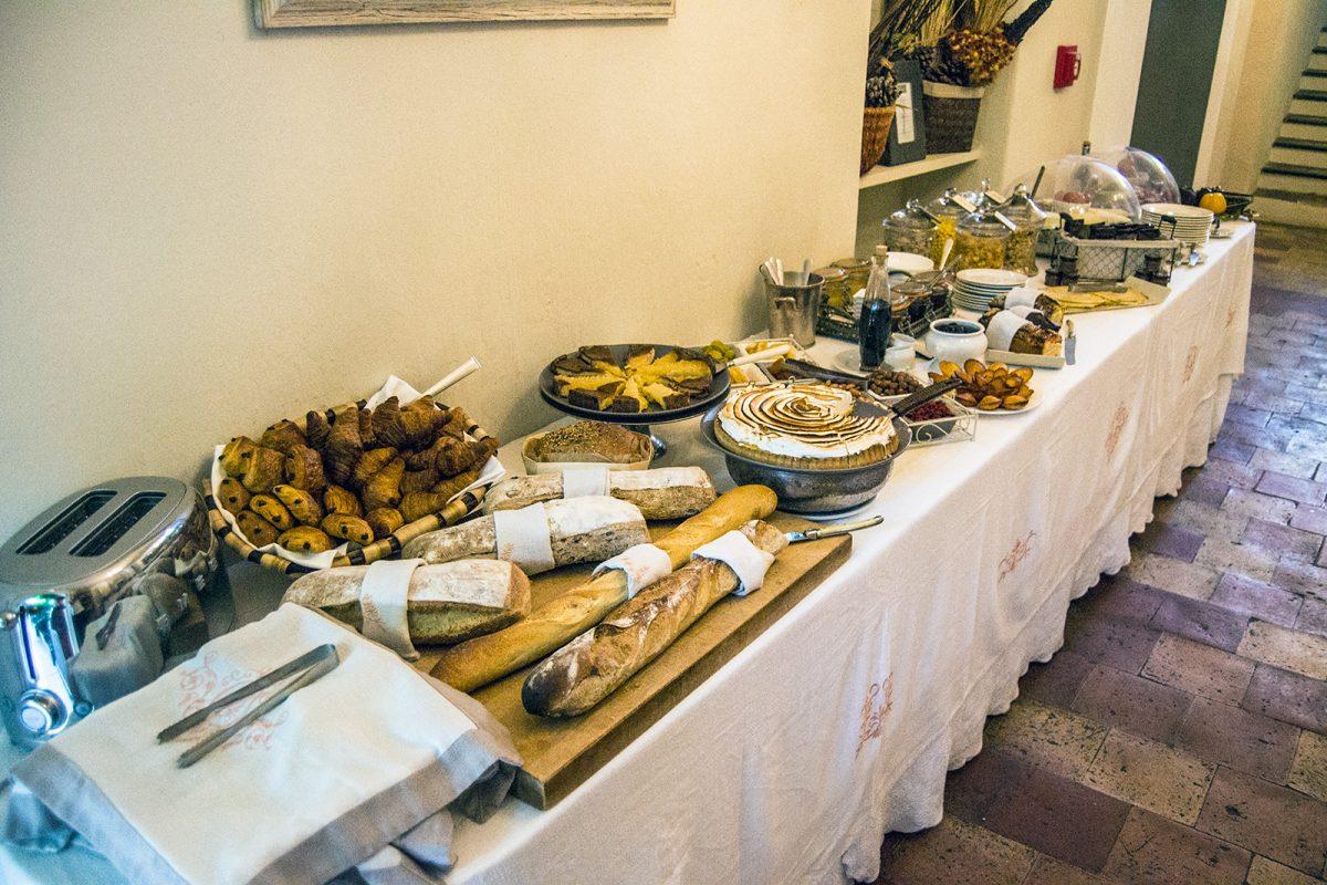 Buffet libre desayuno del Hotel Mas de Chastelas