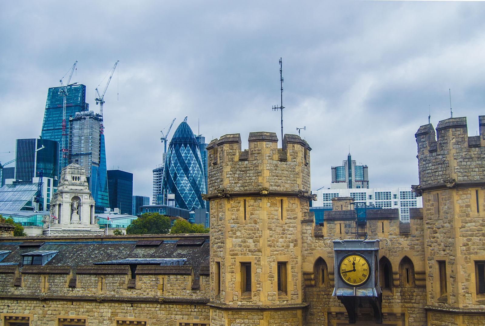 City de Londres desde la Torre de Londres – Cómo exprimir al máximo una London Pass de un día