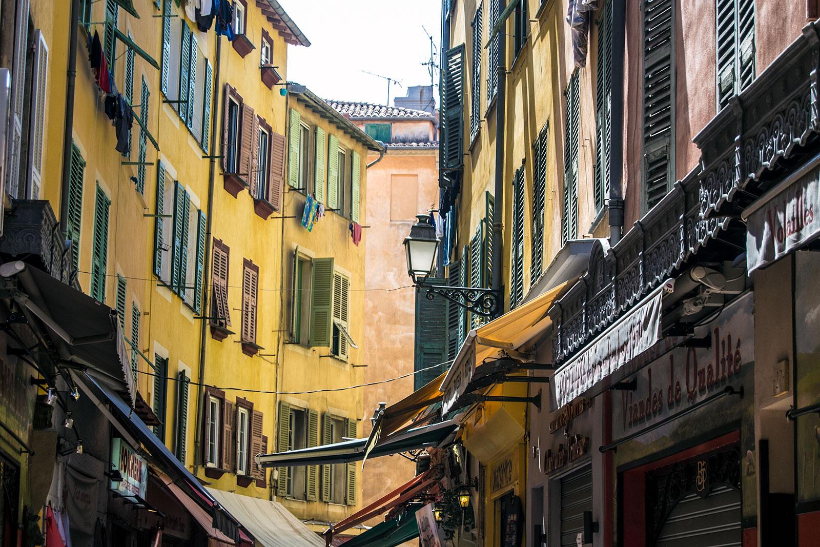 Colores del centro de Niza - una mañana en Niza