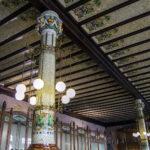 Columnas del interior de la estación del Norte de Valencia - Un día en Valencia