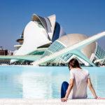 Nerea en la ciudad de las Artes y las Ciencias de día - Un día en Valencia