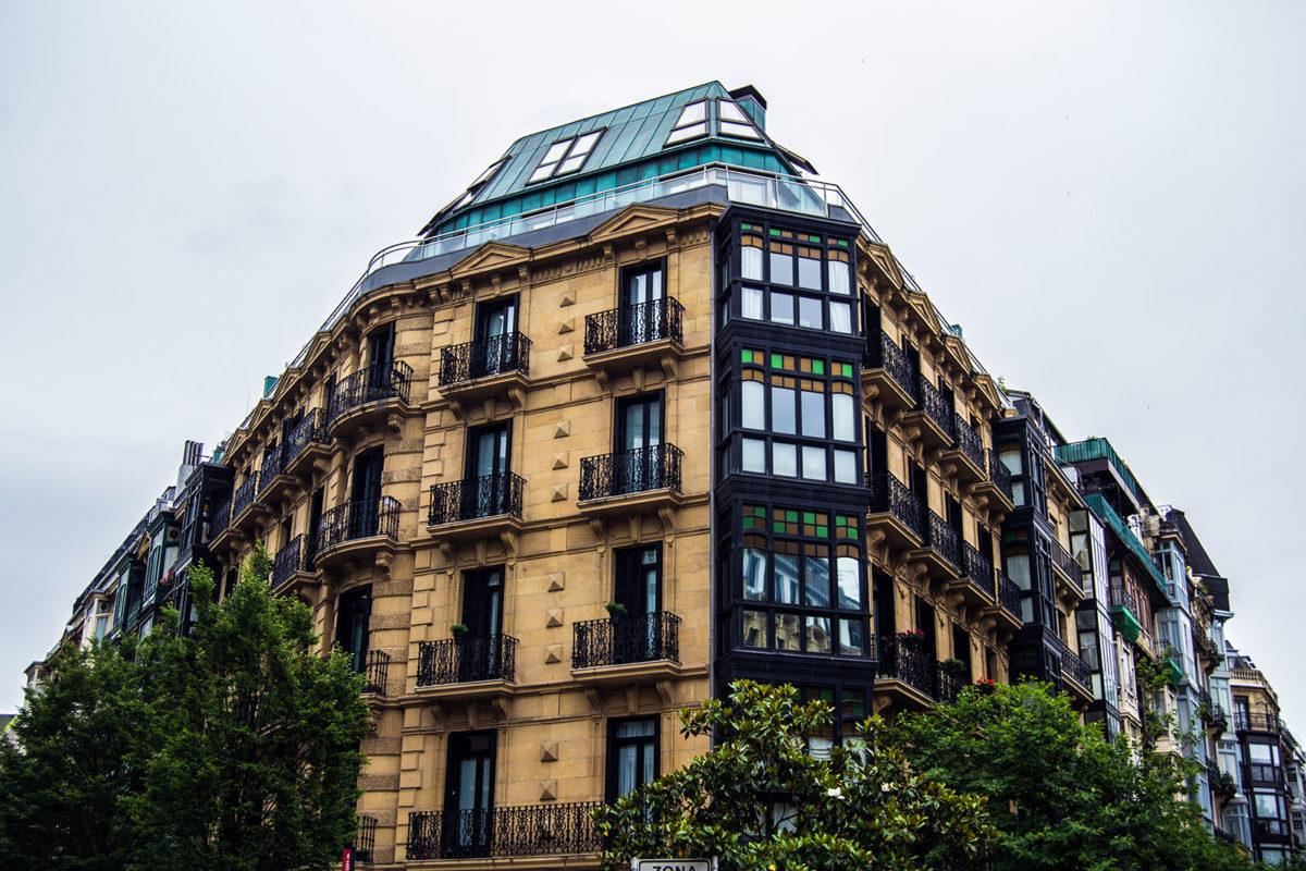 Edificio de la parte vieja de San Sebastián
