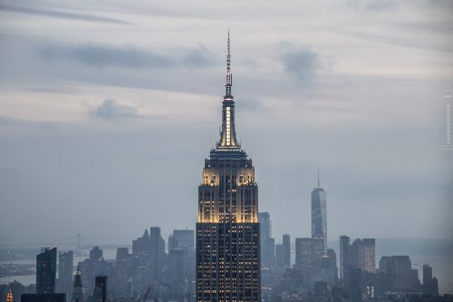 Empire State al atardecer desde Top of the Rock - Vistas de Manhattan