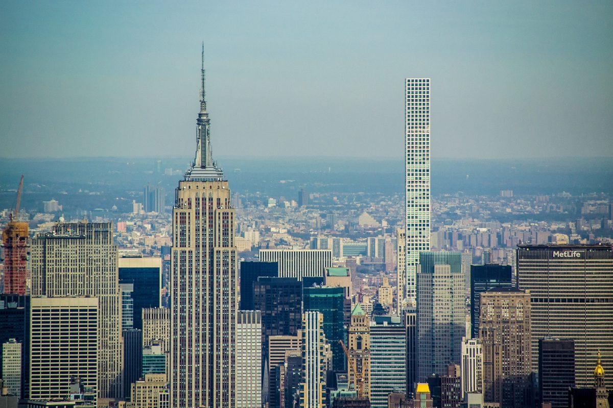 Empire State y edificio 432 Park Avenue desde Freedom Tower - Mejores vistas de Nueva York