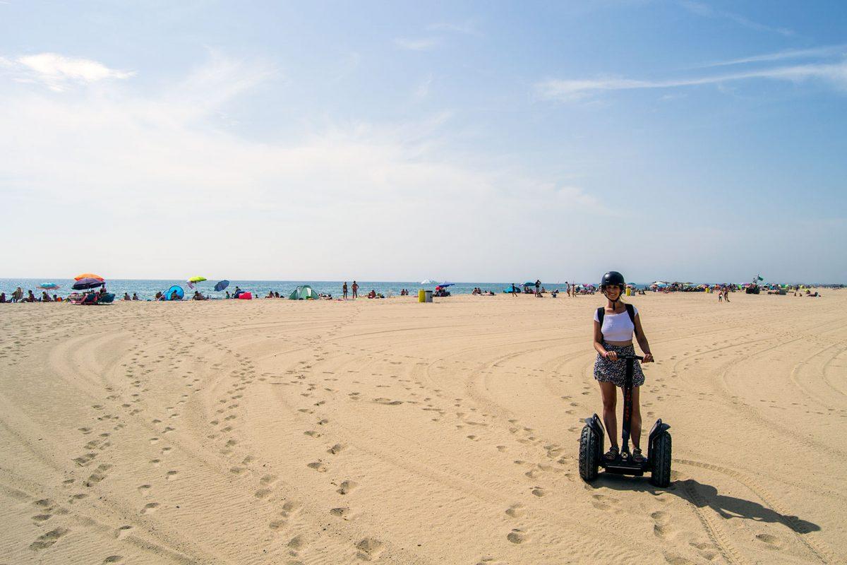 En segway 4x4 por la playa de Empuriabrava - regreso Costa Brava
