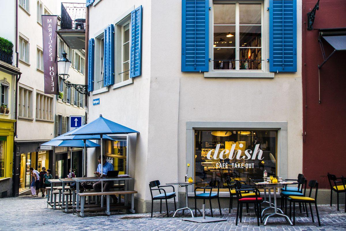 Entrada del hotel Marktgasse Hotel Zurich - qué ver en Zúrich