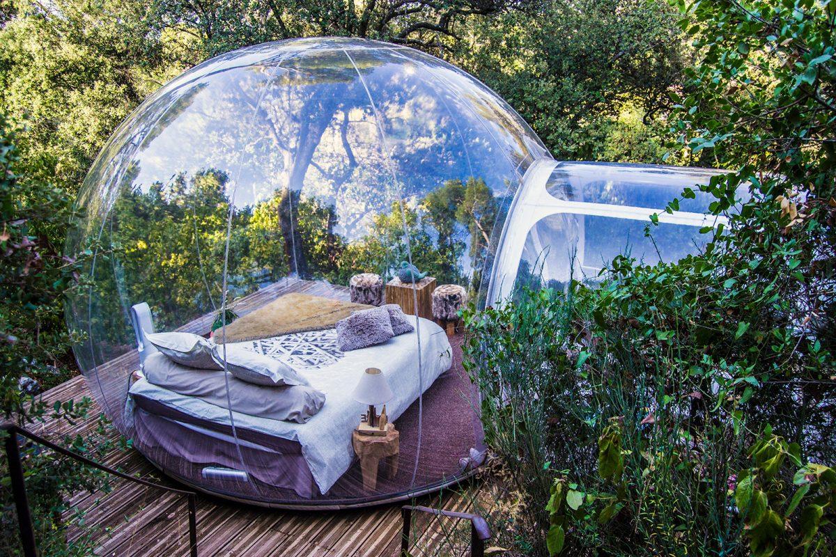 Espacio Burbuja Nature - domir en una burbuja Attrap'reves
