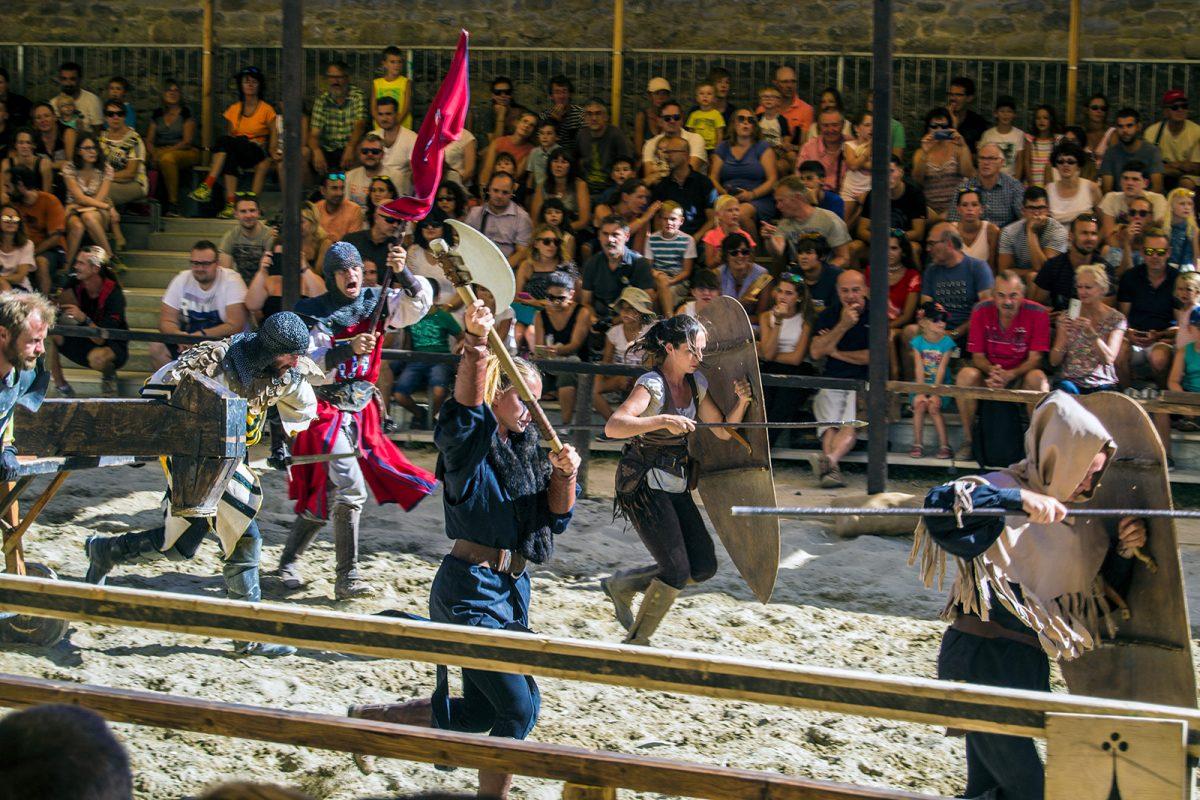 Espectáculo medieval en Carcassonne 5