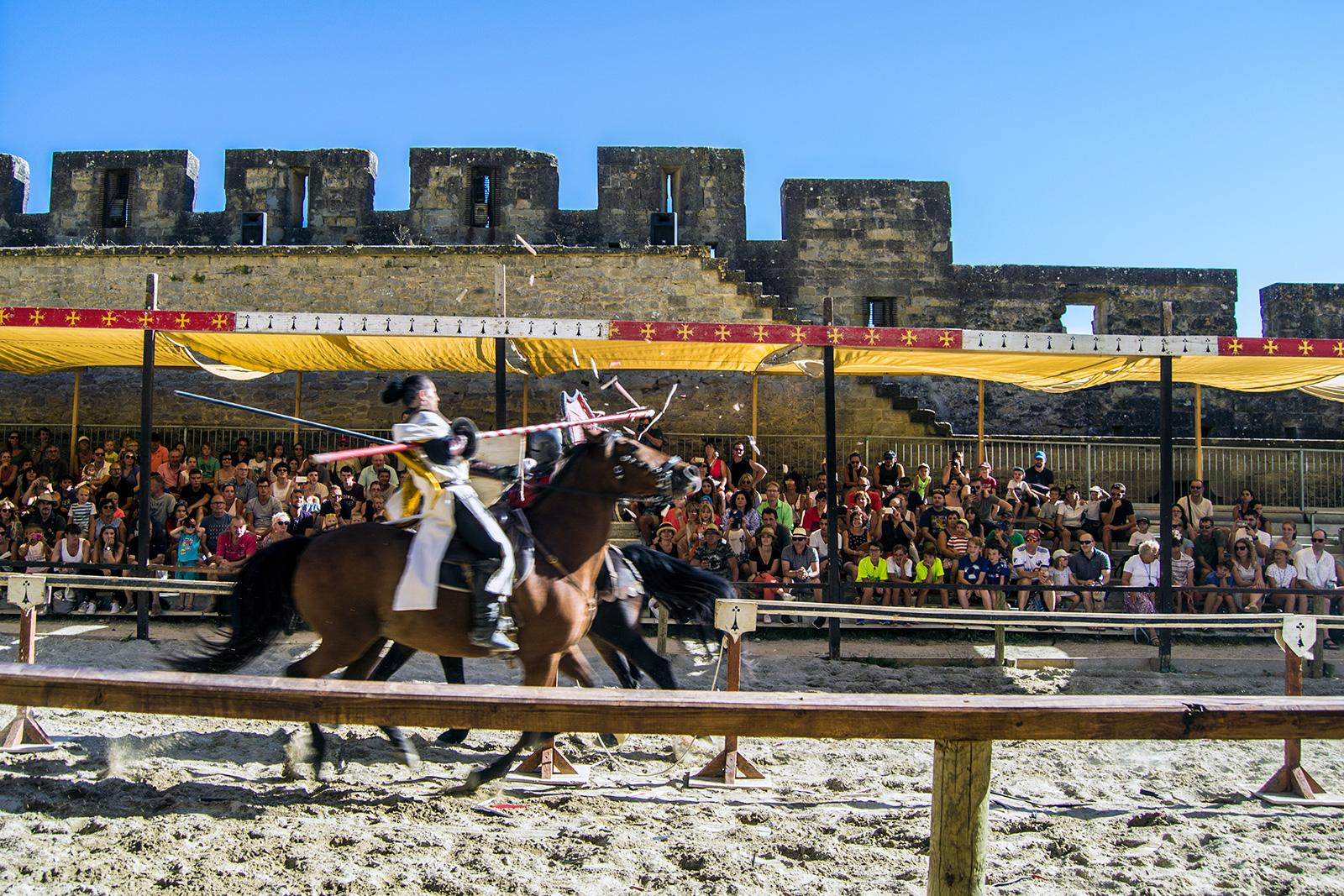 Espectáculo medieval en Carcassonne
