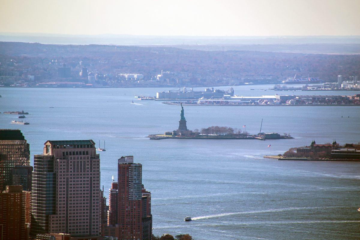 Estatua de la Libertad desde el Empire State Building - Vistas de Nueva York