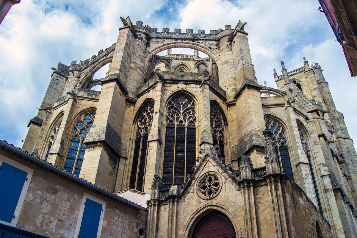Exterior Catedral Narbona - qué ver en Narbona