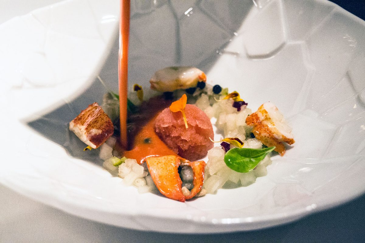 Gazpacho con bogavante - Restaurante Nectari Barcelona 2
