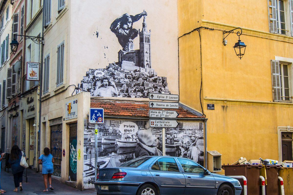 Graffiti King Kong en Marsella