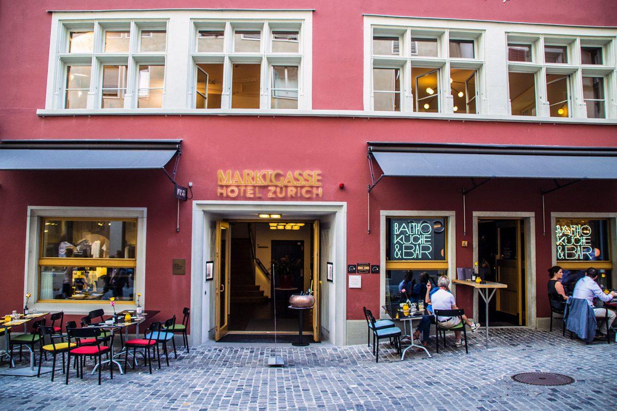 Hotel Marktgasse desde la calle - qué ver en Zúrich