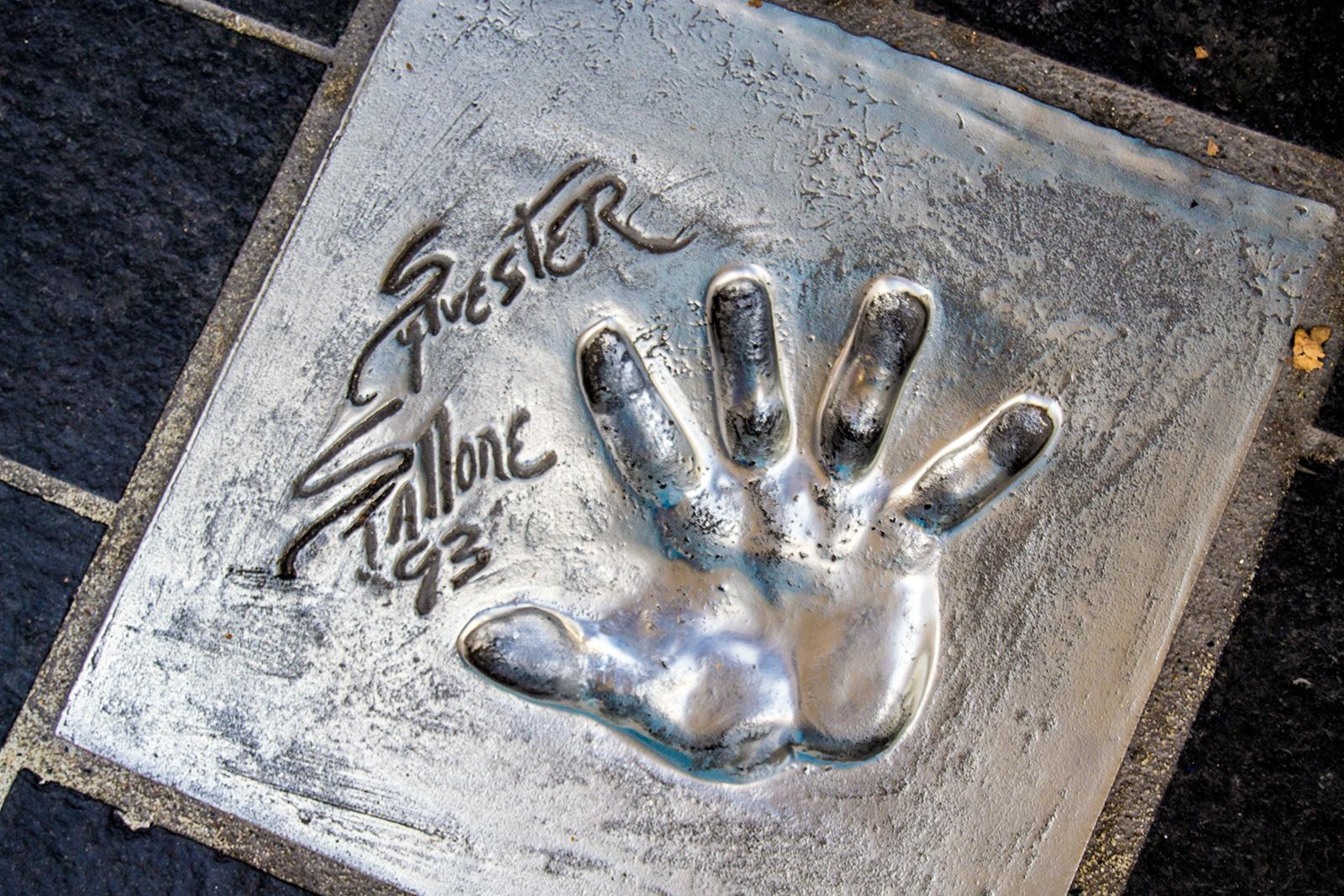 Huellas de las manos de Sylvester Stallone - Cannes en un día