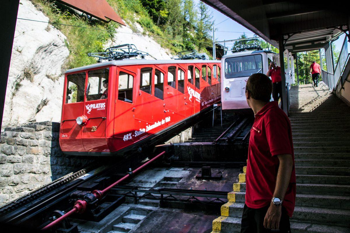 Inicio Tren cremallera Pilatus - tren cremallera Monte Pilatus
