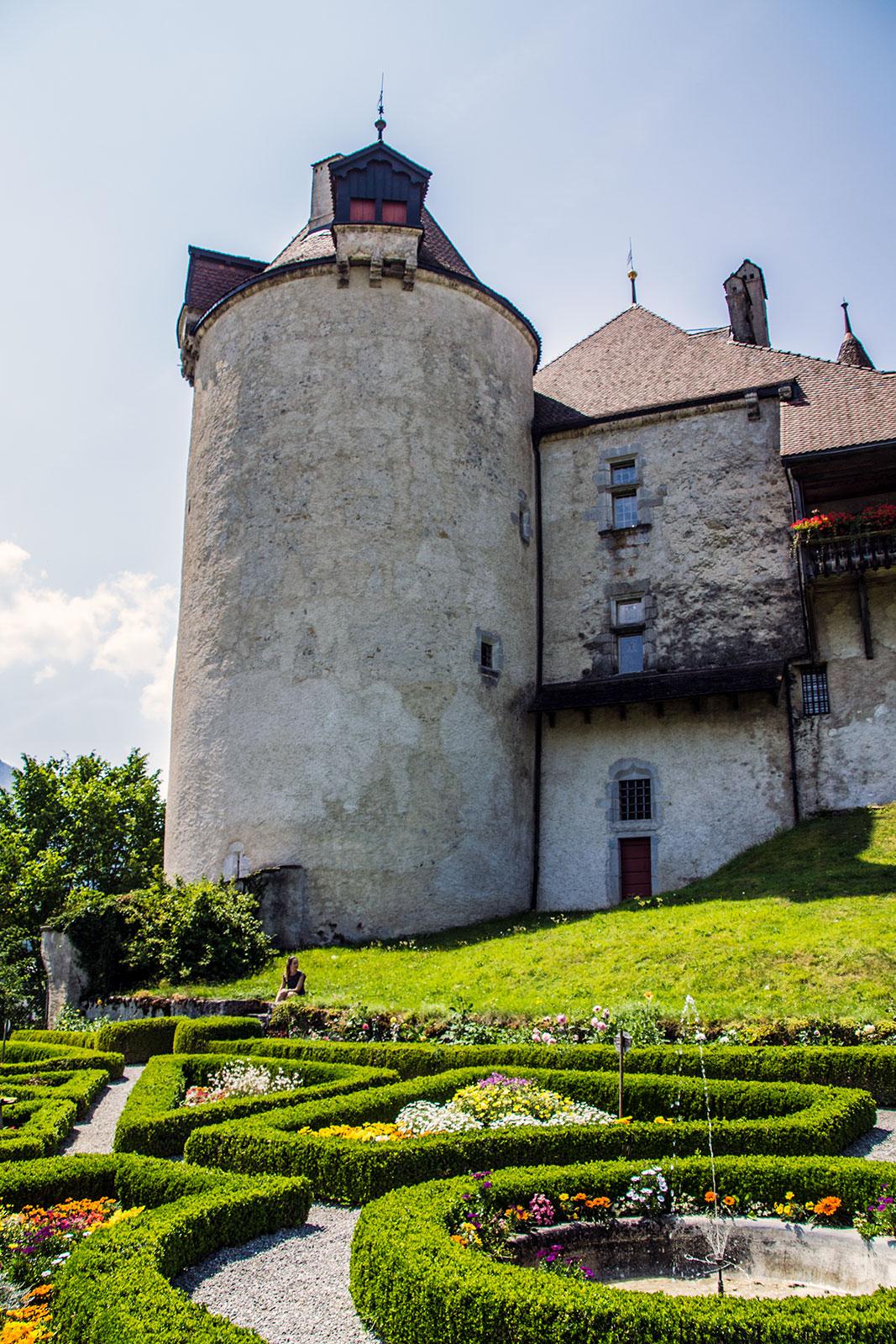 Jardín parisino del castillo de Gruyères - qué ver en Gruyères