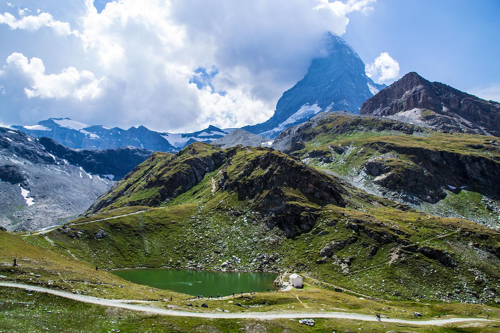 Lago Scharsee y Matterhorn - Matterhorn Glacier Paradise