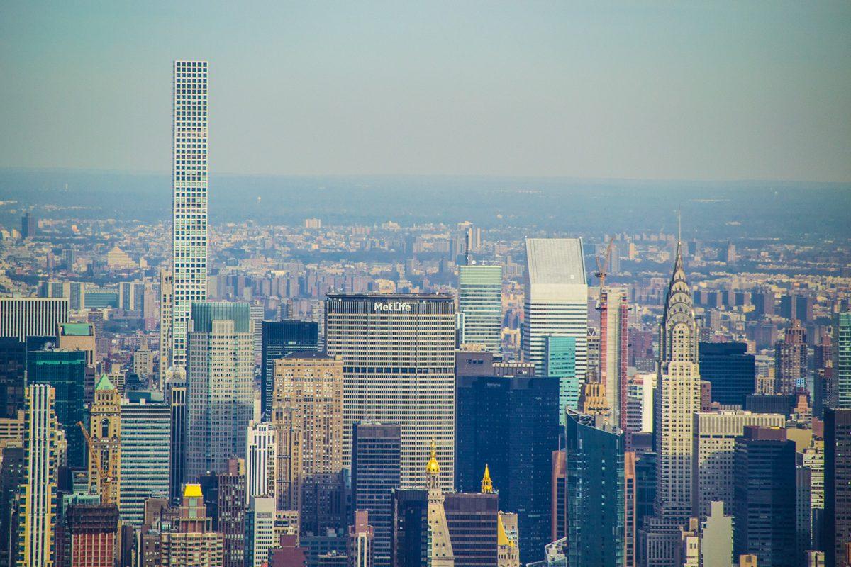 Metlife, Chrysler y edificio 432 Park Avenue desde Freedom Tower - Mejores vistas de Nueva York
