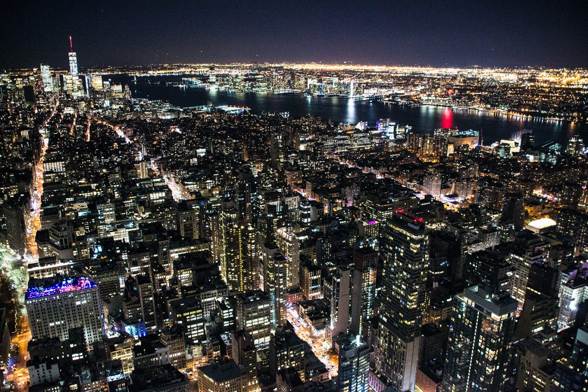 Middle West and Lower West Side desde el Empire State Building por la noche - Vistas de Nueva York