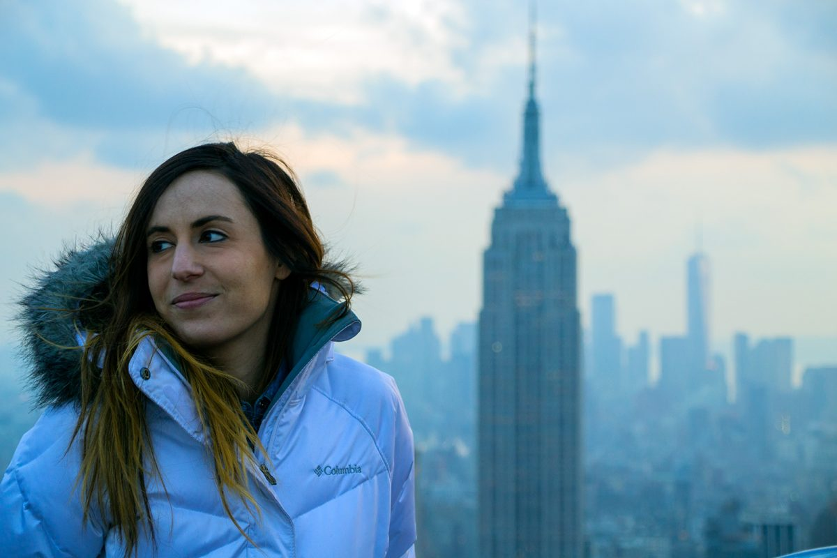 Nerea, Empire State Building y Freedom Tower - Vistas de Nueva York