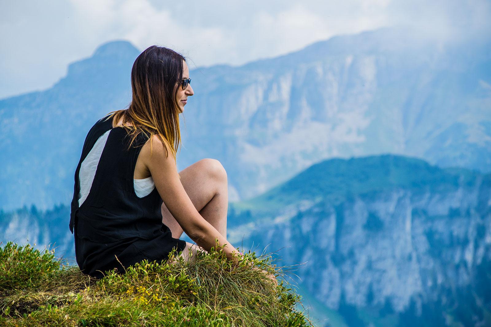 Nerea en Rochers de Naye 2 - Montreux la joya del lago Lemán