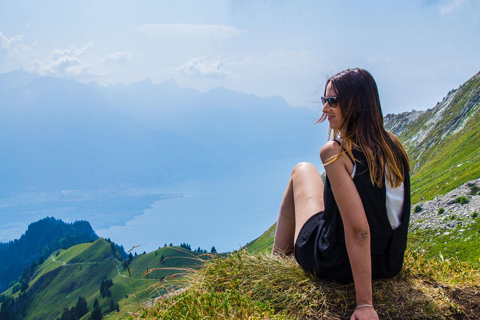 Nerea en Rochers de Naye 3 - Montreux la joya del lago Lemán