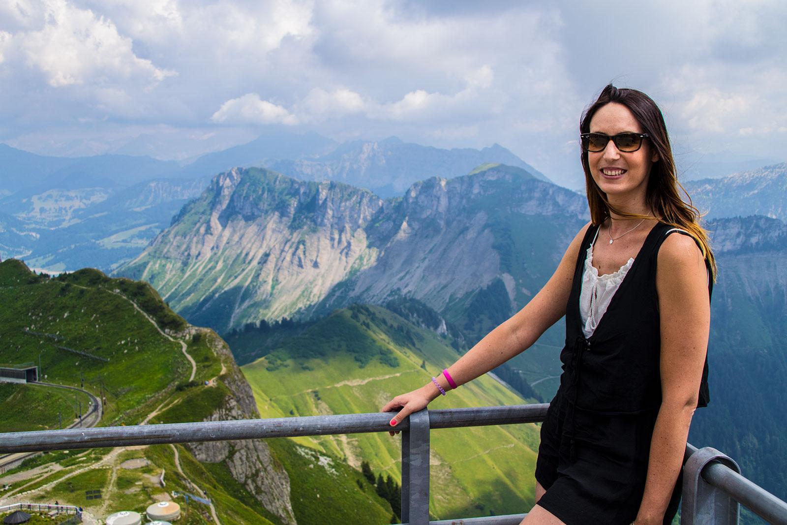 Nerea en Rochers de Naye - Montreux la joya del lago Lemán